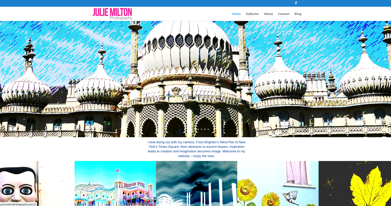 Julie Milton Photography website - designed by Hook Web & Print