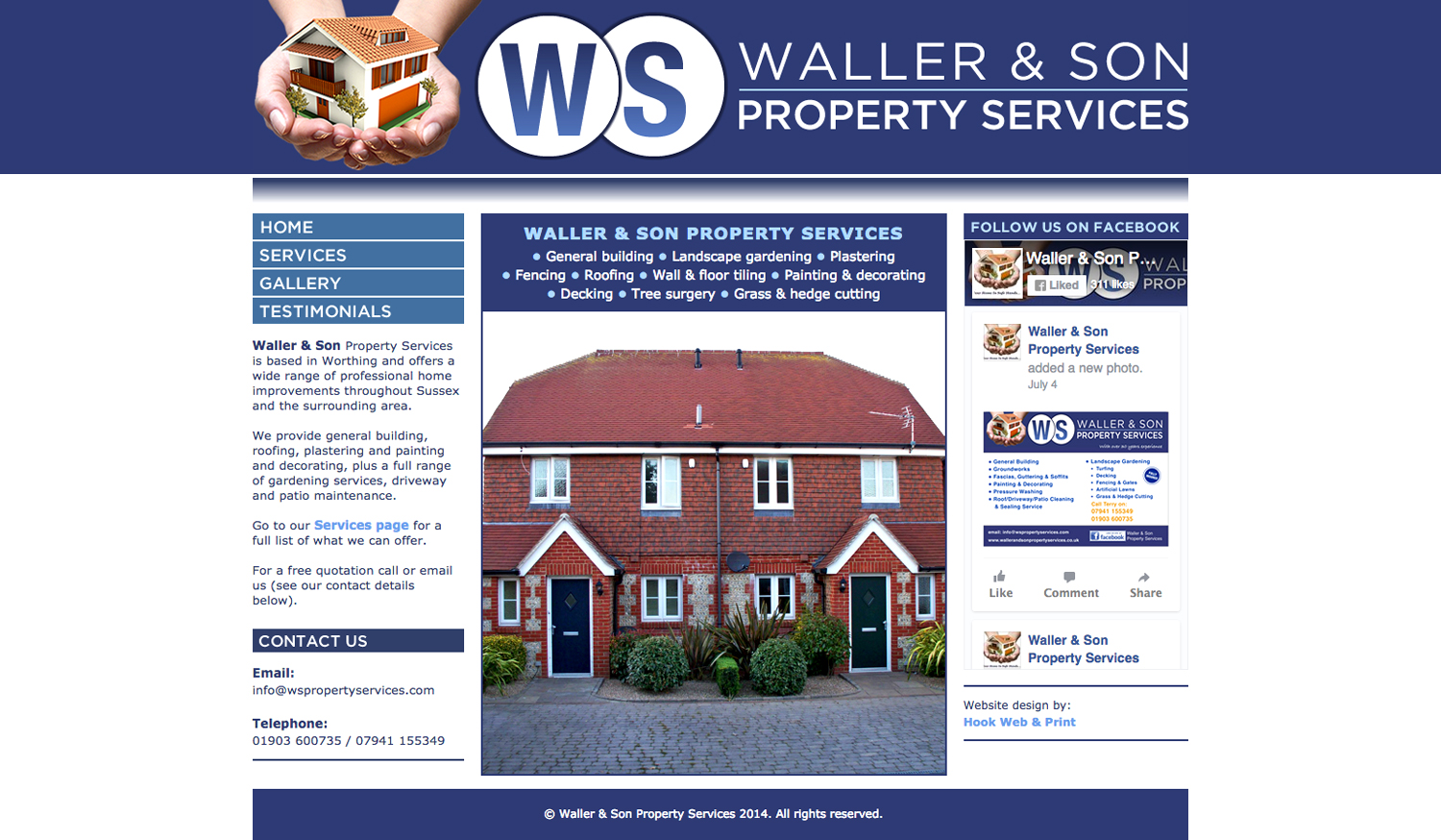 Waller & Son website - designed by Hook Web & Print