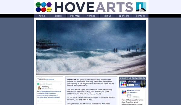 Hove Arts website