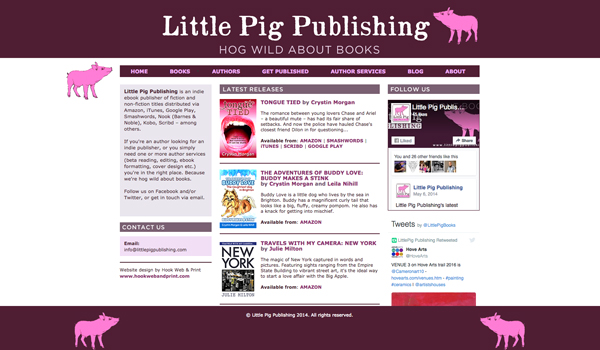 Little Pig Publishing website