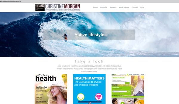 Christine Morgan journalist website