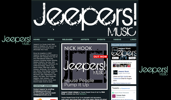 Jeepers! Music website