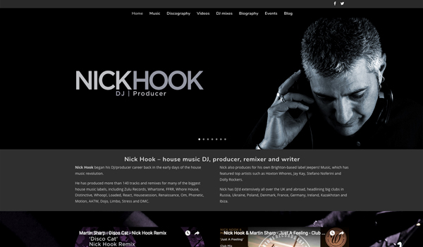 Nick Hook website