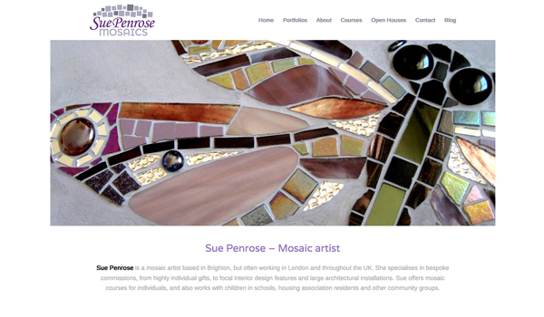 Sue Penrose Mosaics website