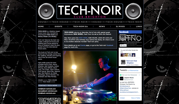 Tech-noir Club website